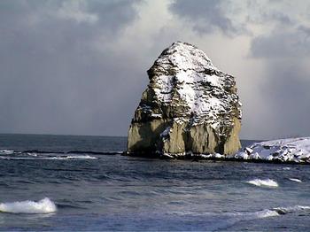 余市付近の岩
